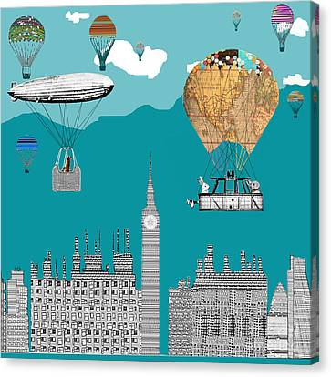 Adventure Days London Canvas Print by Bri B