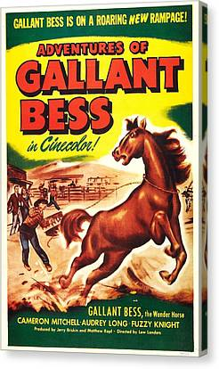 Adventures Of Gallant Bess, Us Poster Canvas Print by Everett