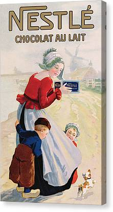 Advertisement For Chocolat Au Lait Canvas Print by Anonymous