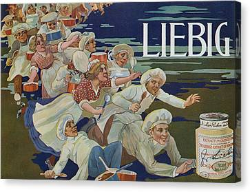 Advertisement For Extractum Carnis Liebig Canvas Print by English School