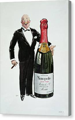 Advertisement For Heidsieck Champagne Canvas Print by Sem