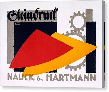 Advertisement For Nauck And Hartmann Canvas Print by Carlo Egler
