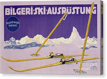 Advertisement For Skiing In Austria Canvas Print by Carl Kunst