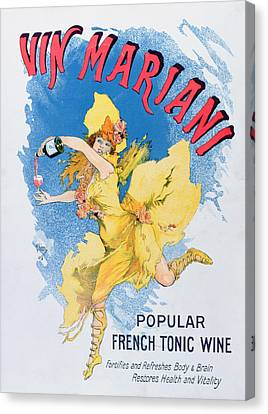 Advertisement For Vin Mariani From Theatre Magazine Canvas Print by English School