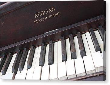 Aeolian Player Piano-3484 Canvas Print by Gary Gingrich Galleries
