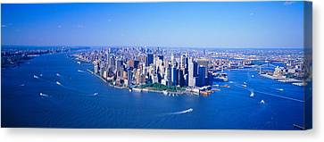 Aerial Lower Manhattan New York City Ny Canvas Print by Panoramic Images