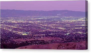 Aerial Silicon Valley San Jose Canvas Print by Panoramic Images
