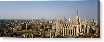 Aerial View Of A Cathedral In A City Canvas Print by Panoramic Images