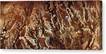 Aerial View Of Hot Air Balloons Canvas Print by Panoramic Images