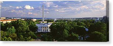 Aerial, White House, Washington Dc Canvas Print by Panoramic Images