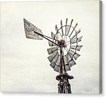 Aermotor Windmill In Grapevine Texas Canvas Print by Lisa Russo