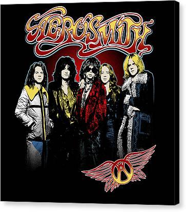 Aerosmith - 1970s Bad Boys Canvas Print by Epic Rights