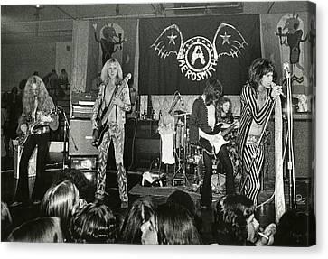 Aerosmith - Aerosmith Tour 1973 Canvas Print by Epic Rights