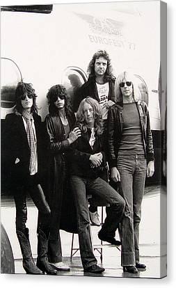 Aerosmith - Eurofest Jet 1977 Canvas Print by Epic Rights