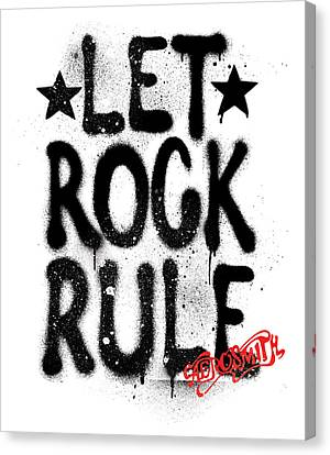 Aerosmith - Let Rock Rule Graffiti Canvas Print by Epic Rights