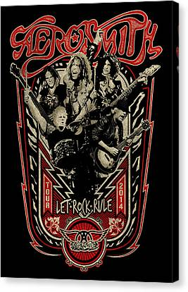 Aerosmith - Let Rock Rule World Tour Canvas Print by Epic Rights