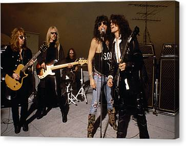 Aerosmith - Rooftop Blues 1990s Canvas Print by Epic Rights