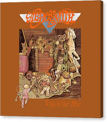 Aerosmith - Toys In The Attic 1975 Canvas Print by Epic Rights