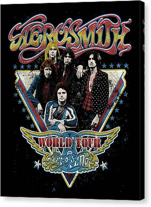 Aerosmith - World Tour 1977 Canvas Print by Epic Rights