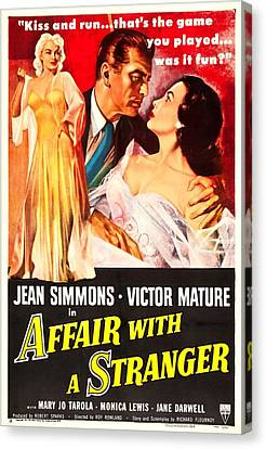 Affair With A Stranger, Us Poster Canvas Print by Everett