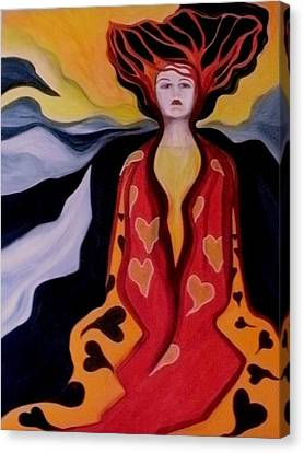 Faint Of Heart Canvas Print by Carolyn LeGrand