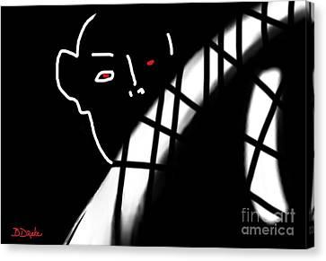 Afraid Of The Dark Canvas Print by Barbara Drake