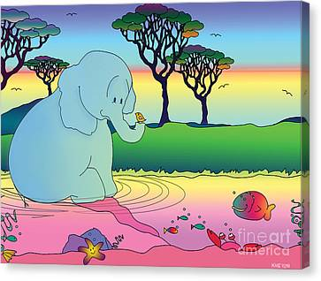 Nacooma And Friends Created By Kidslolll Canvas Print by Kids Lolll