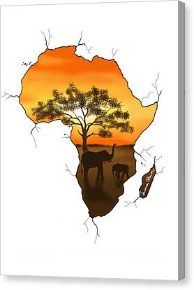 Africa Canvas Print by Veronica Minozzi