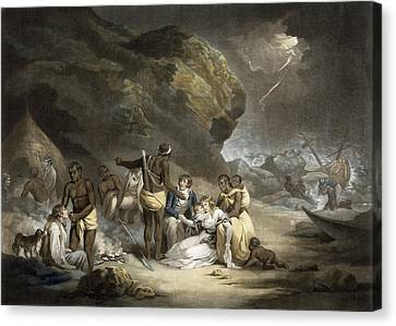 African Hospitality, Engraved By John Raphael Smith, 1791 Mezzotint Canvas Print by George Morland