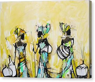 African Pride 2 Canvas Print by Irina Rumyantseva