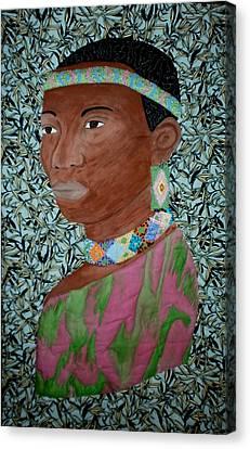 African Queen Canvas Print by Linda Egland