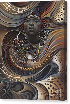 African Spirits I Canvas Print by Ricardo Chavez-Mendez