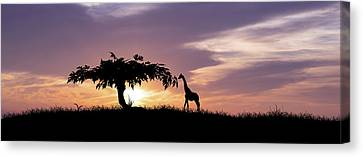 African Sunset Canvas Print by Aged Pixel
