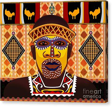 African Tribesman 2 Canvas Print by Bedros Awak