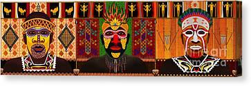 African Tribesmen Canvas Print by Bedros Awak