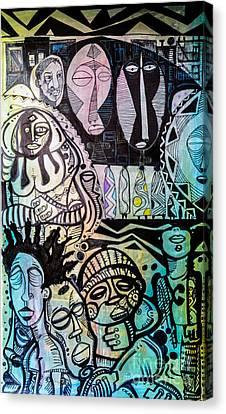 African Village Canvas Print by Robert Daniels