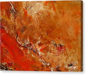 After A Long Time - Abstract Art Canvas Print by Ismeta Gruenwald