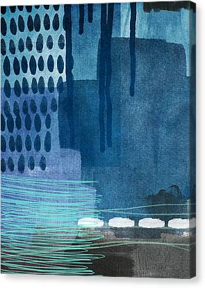After Rain- Contemporary Abstract Painting  Canvas Print by Linda Woods