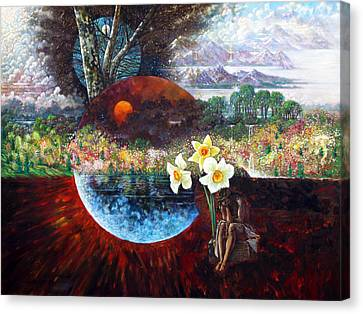After The Death Of Christ Canvas Print by John Lautermilch
