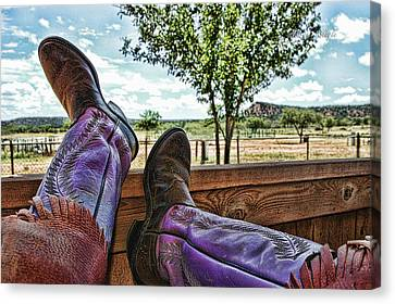 After The Ride Canvas Print by Karen Slagle