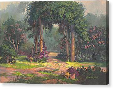 Afternoon Arbor Canvas Print by Michael Humphries