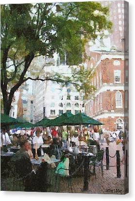 Afternoon At Faneuil Hall Canvas Print by Jeff Kolker