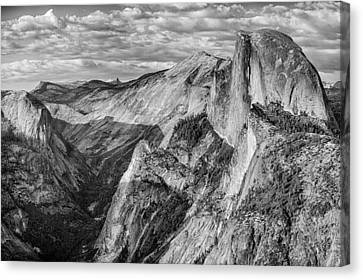 Afternoon At Half Dome Canvas Print by Harry H Hicklin