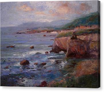 Afternoon At Shell Beach Sketch Canvas Print by R W Goetting