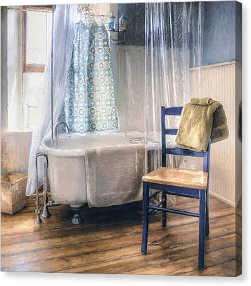 Afternoon Bath Canvas Print by Scott Norris