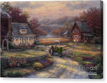 Afternoon Harvest Canvas Print by Chuck Pinson
