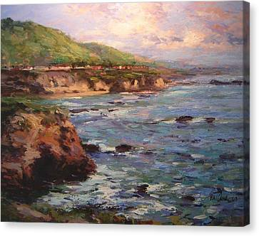 Afternoon Near Shell Beach Canvas Print by R W Goetting