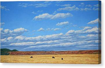 Grazing Canvas Print by James W Johnson