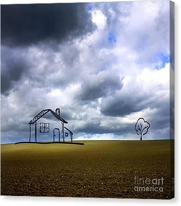 Agriculture Landscape Canvas Print by Bernard Jaubert