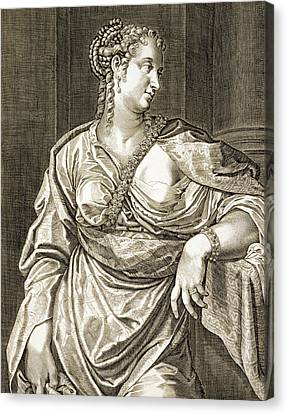 Agrippina Wife Of Tiberius Canvas Print by Aegidius Sadeler or Saedeler